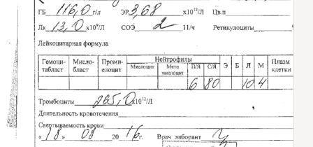 Анализ крови поликлинике Справка из травмпункта Ленинский проспект